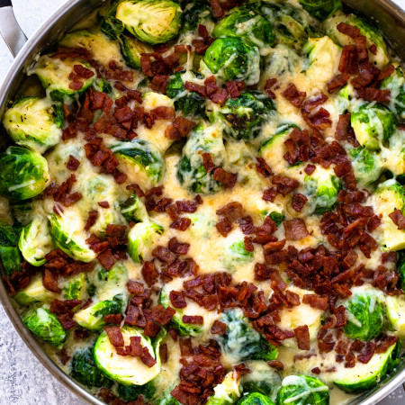 Creamy Brussels Sprouts (keto)